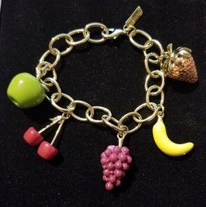 JEWELMINT Fruit Charm Bracelet
